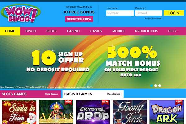 Wowbingo Casino Review