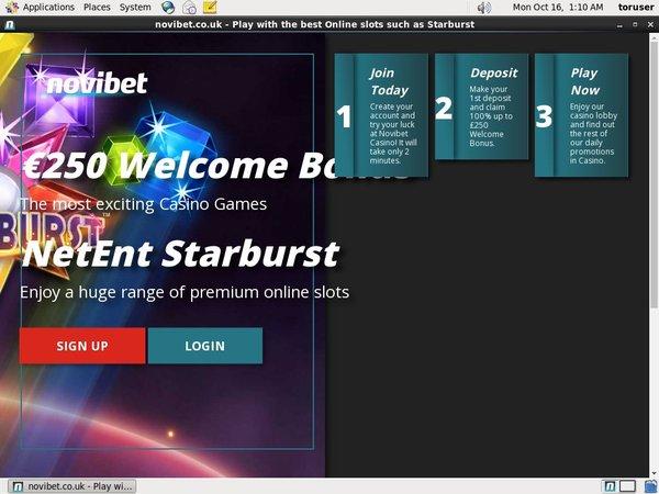 Novibet Deposit Page