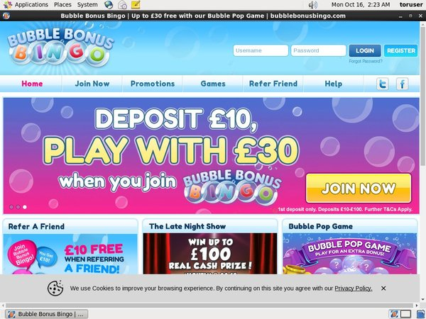 Bubble Bonus Bingo Free Chips