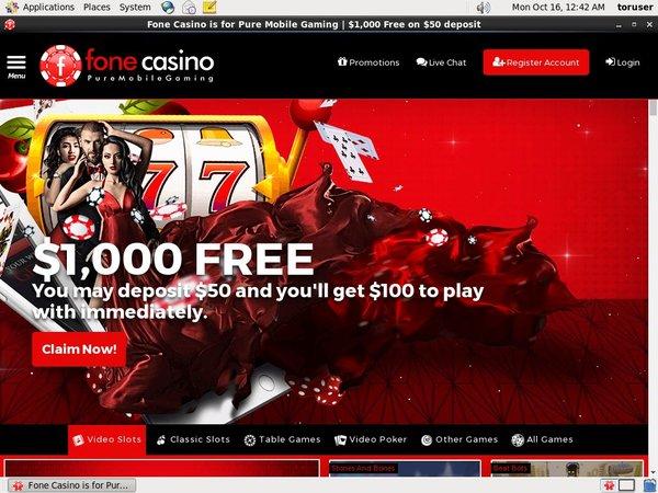Fone Casino Live Casino