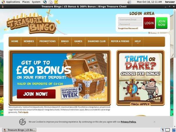 Treasure Bingo Spillemaskiner