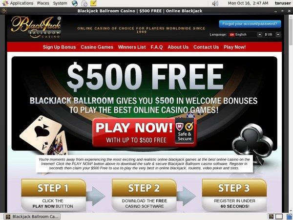Blackjack Ballroom Free Rolls